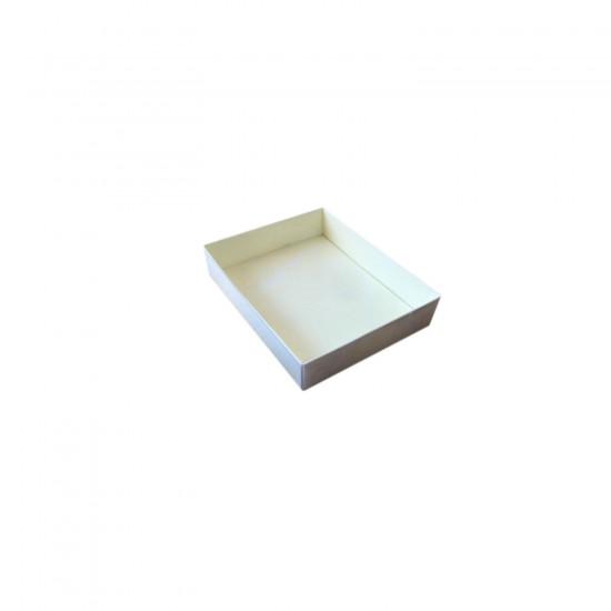 Asetat Kapaklı Karton Kutu Mermer Desenli 12X15X3 CM (10 Adet)