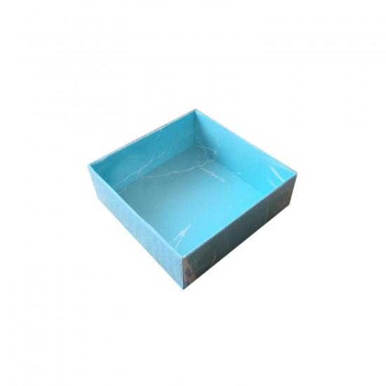 Asetat Kapaklı Karton Kutu Mermer Desenli 8X8X3 (50 Adet)