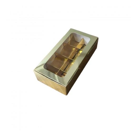 Asetat Pencereli Karton Kutu 20x10x5 CM 8 Bölmeli Kutu (10 Adet)
