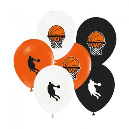 Basketbol Temalı Balon Karışık Renk 12 İNÇ (20 Adet)