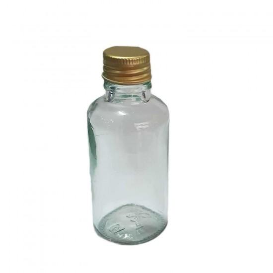 Cam Şişe 30 CC Alüminyum Kapaklı  (25 Adet)