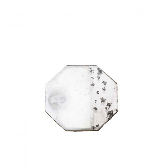 Epoksi Magnet  Sekiz Köşeli Varaklı Yarısı Şeffaf 7 CM  (10 Adet)