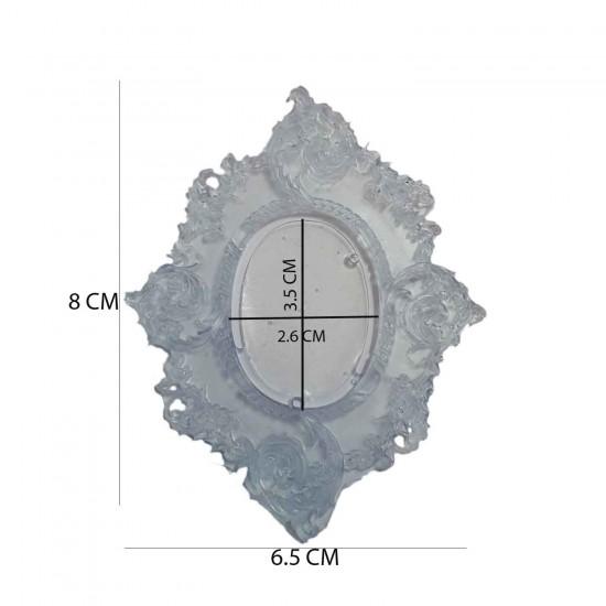 Epoksi Silikon Kalıp Desenli Çerçeve  6.5 X 8 CM