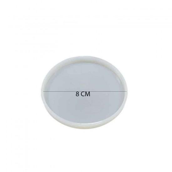 Epoksi Silikon  Kalıp  Magnet Düz Model 8 CM