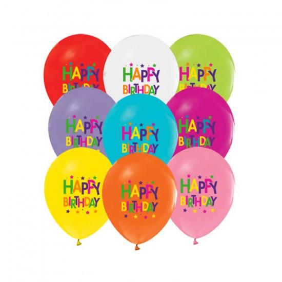 Happy Birthday Balon Superstar Temalı Karışık Renk (20 Adet)