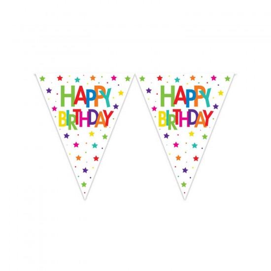 Happy Birthday Flama Bayrak Seti Superstar Temalı 320 CM