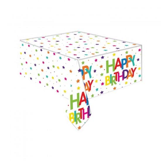 Happy Birthday Masa Örtüsü Superstar Temalı 108 X 180 CM