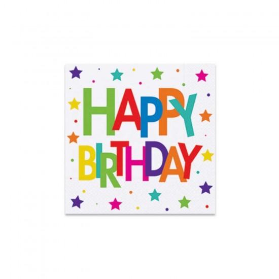 Happy Birthday Peçete  Superstar Temalı  33X33 CM (16 Adet)