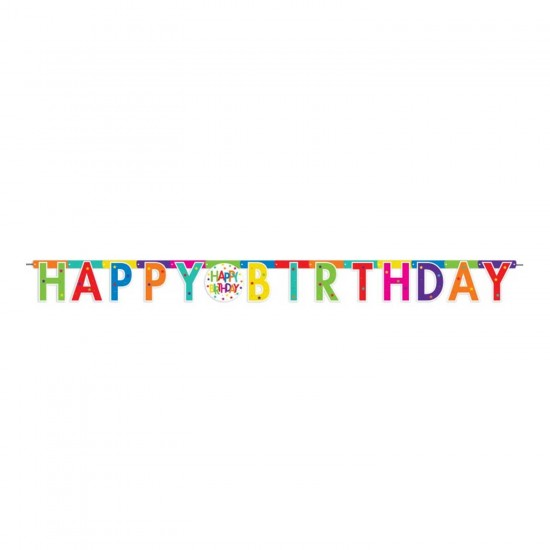 Happy Birthday Uzar Yazı Seti Superstar Temalı  220 CM