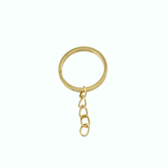 Anahtarlık Halkası Zincirli  5 Cm (50 Adet)