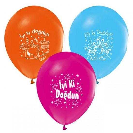 Balon 1+1 İyiki Doğdun Karışık (20 Adet)