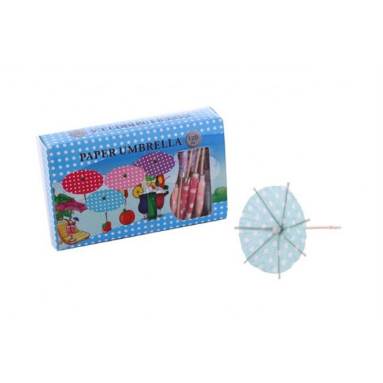 Kürdan Ahşap Şemsiye Modeli Renk Karışık (120 Adet)