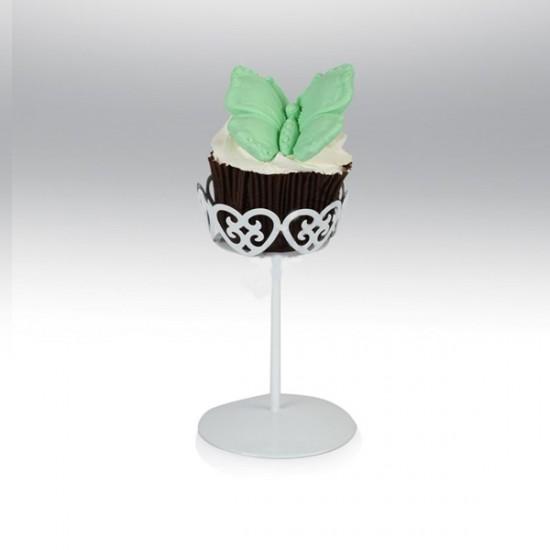 Tekli Metal Cupcake Standı Beyaz