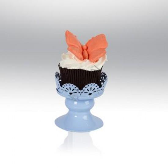 Tekli Metal Cupcake Standı Mavi