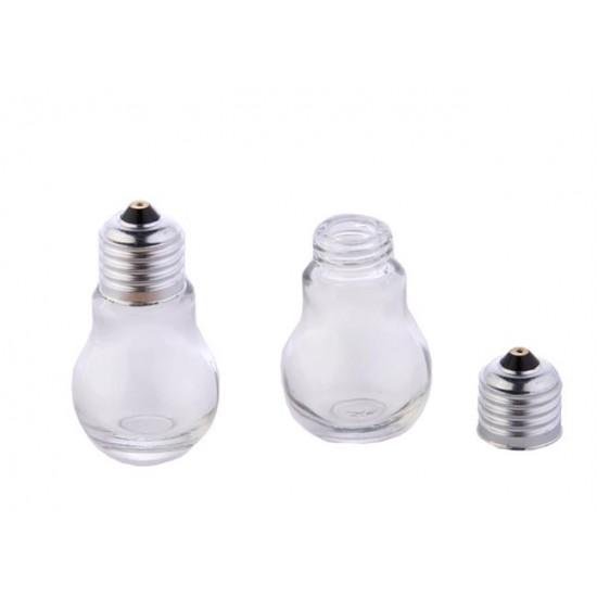 Bal Kavanozu Cam Metal Kapkalı Ampül Şişe  Modeli (10 Adet)
