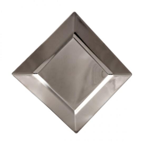 Tabak Gümüş Kare Tabak 24 Cm (6 Adet)