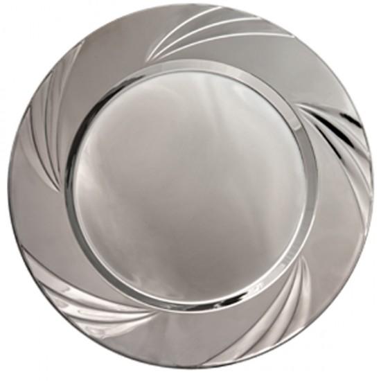 Tabak Gümüş Yuvarlak Tabak 24 Cm (6 Adet)