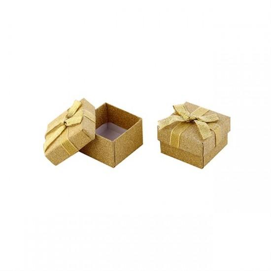 Kutu Karton Floklu Yaldızlı Altın (10 Adet)