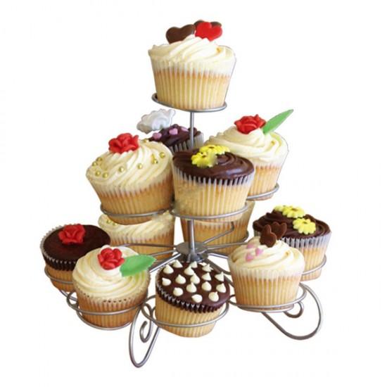 Metal Cupcake Standı 3 Katlı / 13Lü Kek Standı
