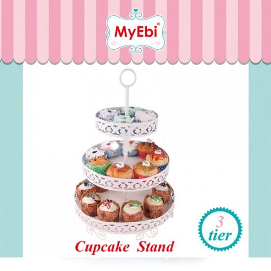Metal Cupcake Standı 3 Katlı Kek Standı