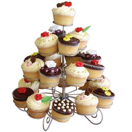 Metal Cupcake Standı 4 Katlı / 23Lü Kek Standı