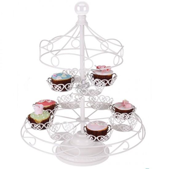 Metal Cupcake Standı Atlıkarınca - 12Li Kek Standı