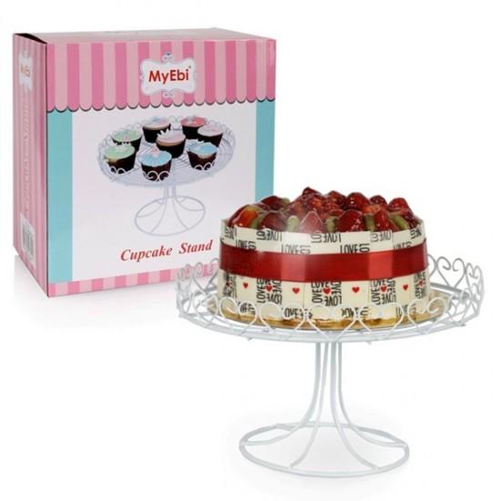 Metal Cupcake Standı Beyaz Kek Standı