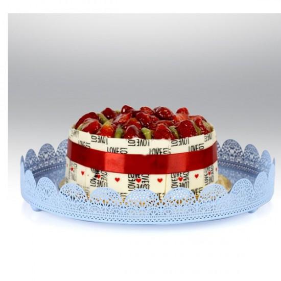 Metal Cupcake Standı Mavi Kek Standı