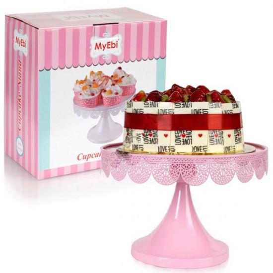 Metal Cupcake Standı Pembe Kek Standı