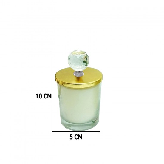 Cam Bardak Mum Kubbeli (Sultan Mumu) Akrilik Kristal Tepe 6 Adet