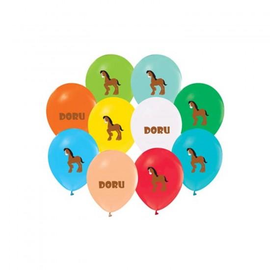 Doru Temalı Pastel Balon Karışık Renk (20 Adet)