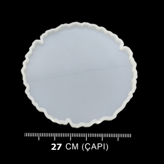 Epoksi Silikon Güneş Tepsi Kalıbı 27 CM