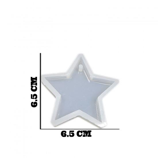 Epoksi Silikon Kalıp Anahtarlık Ve Kolye Kalıbı Yıldız 6.5X6.5CM