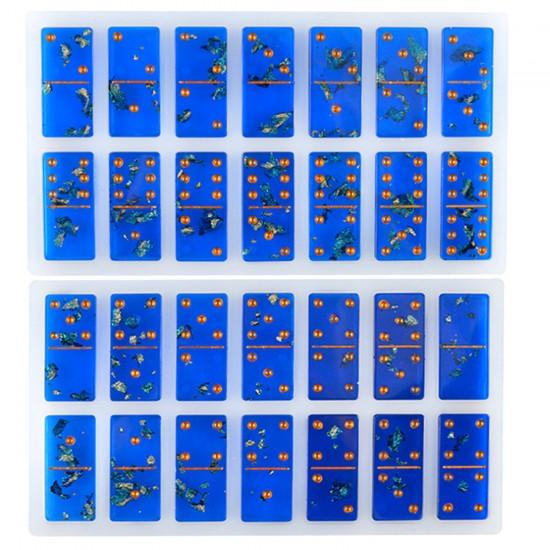 Epoksi Silikon Kalıp  Domino 28 li Kalıp
