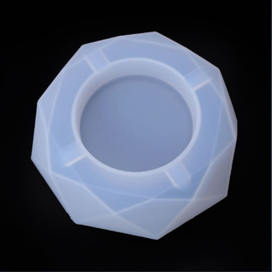 Epoksi Silikon Kalıp Küllük Kalıbı Kristal  Model 13.5 CM
