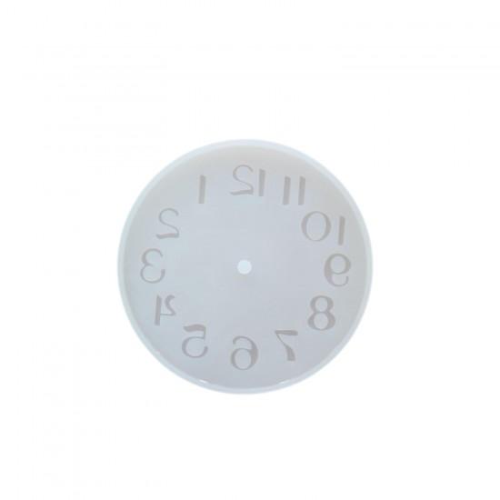 Epoksi Silikon Kalıp Saat  Küçük Boy 10 CM