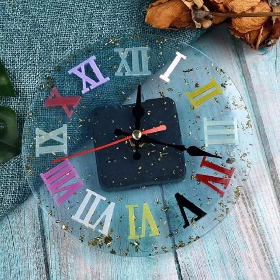Epoksi Silikon Kalıp Roma Rakamlı Saat Küçük Boy 10 CM
