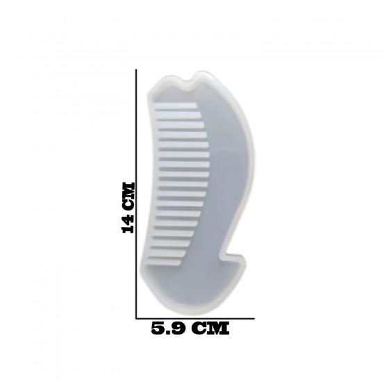 Epoksi Silikon Kalıp Sapsız Tarak Kalıbı 14 CM  E113