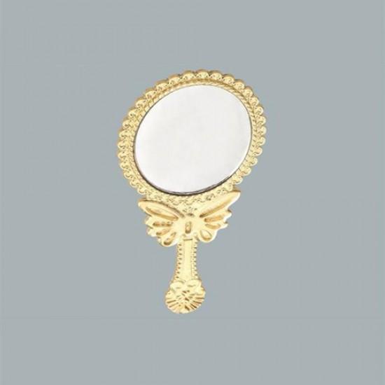 Ayna Oval Kelebekli Altın (10 Adet)