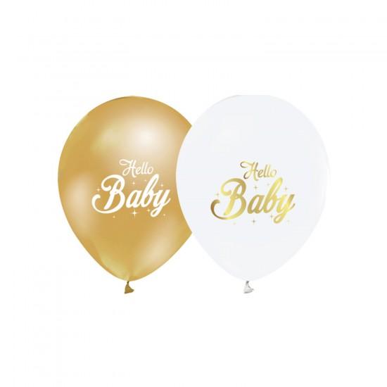 Hello Baby Temalı Balon Karışık Renk (20 Adet)