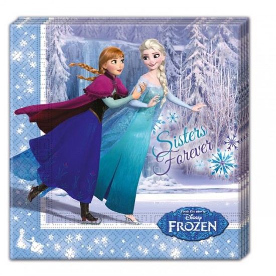 Frozen Ice Skatıng Temalı Kağıt Peçete 33X33 Cm (20 Adet)