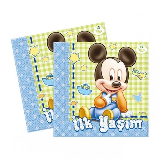 Mickey Disney Baby Temalı Kağıt Peçete  33*33 (16 Adet)