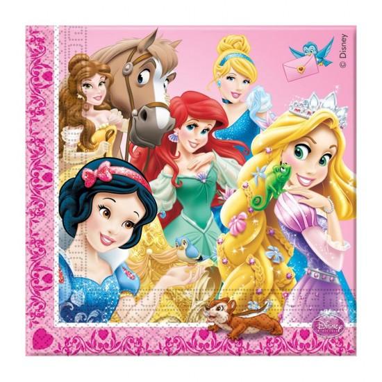 Prensesler Temalı Kağıt Peçete33X33 Cm (20 Adet)