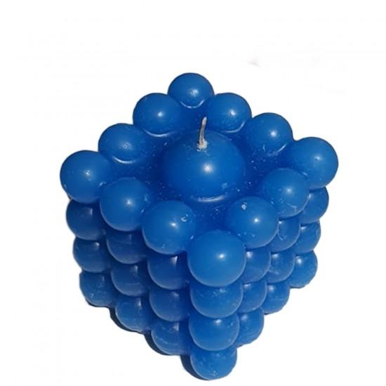 Kare Bubble Dekoratif Mum 6X6 CM