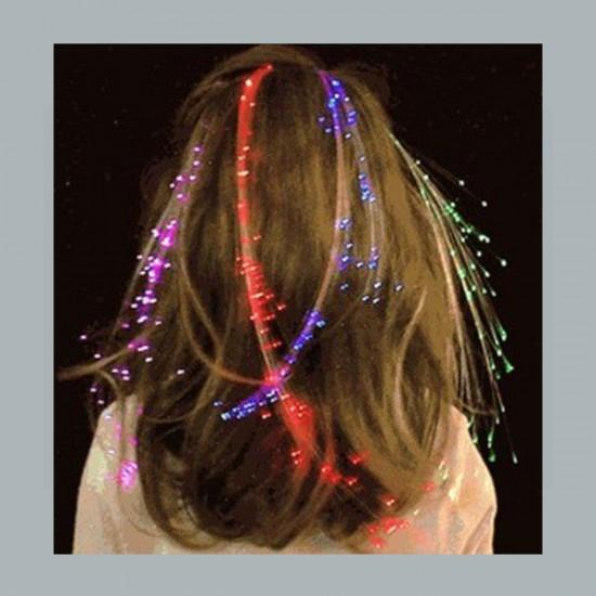 Kına Tacı Saç Örgüsü 4 Renk Led Işıklı (5 Adet)