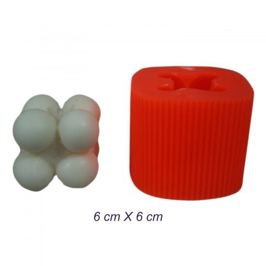 Silikon Küçük Bubble Mum Kalıbı 6X6 CM