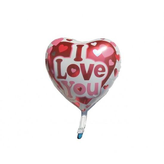 Folyo Balon Kalpli I Love You