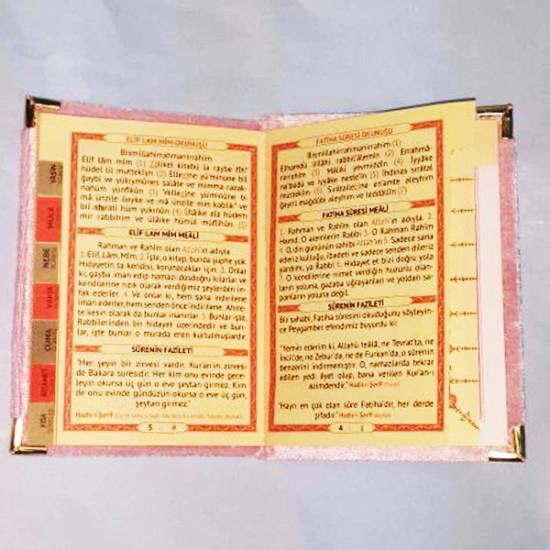 Kadife Kumaş Yasin Kitabı Hediyelik Orta Boy 14X10 Cm (10 Adet)