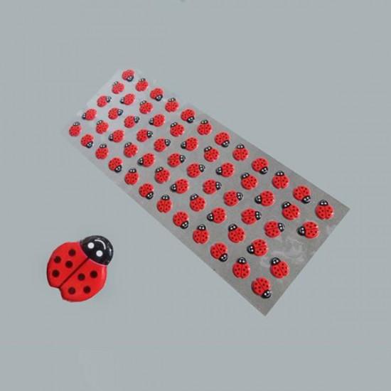 Sticker Yapışkanlı Uğur Böceği Küçük (60 Adet)