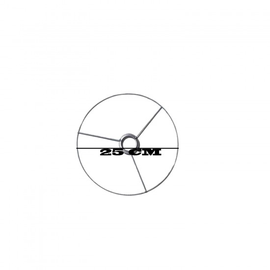 Metal Makrome Avize  Makrome  Kalıbı Küçük Boy 25 CM